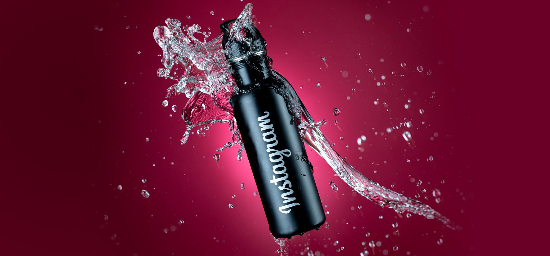Instagram Water Bottle Splash